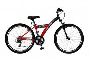 """Велосипед Comanche Ontario FLY, 16"""", черный-красный"""
